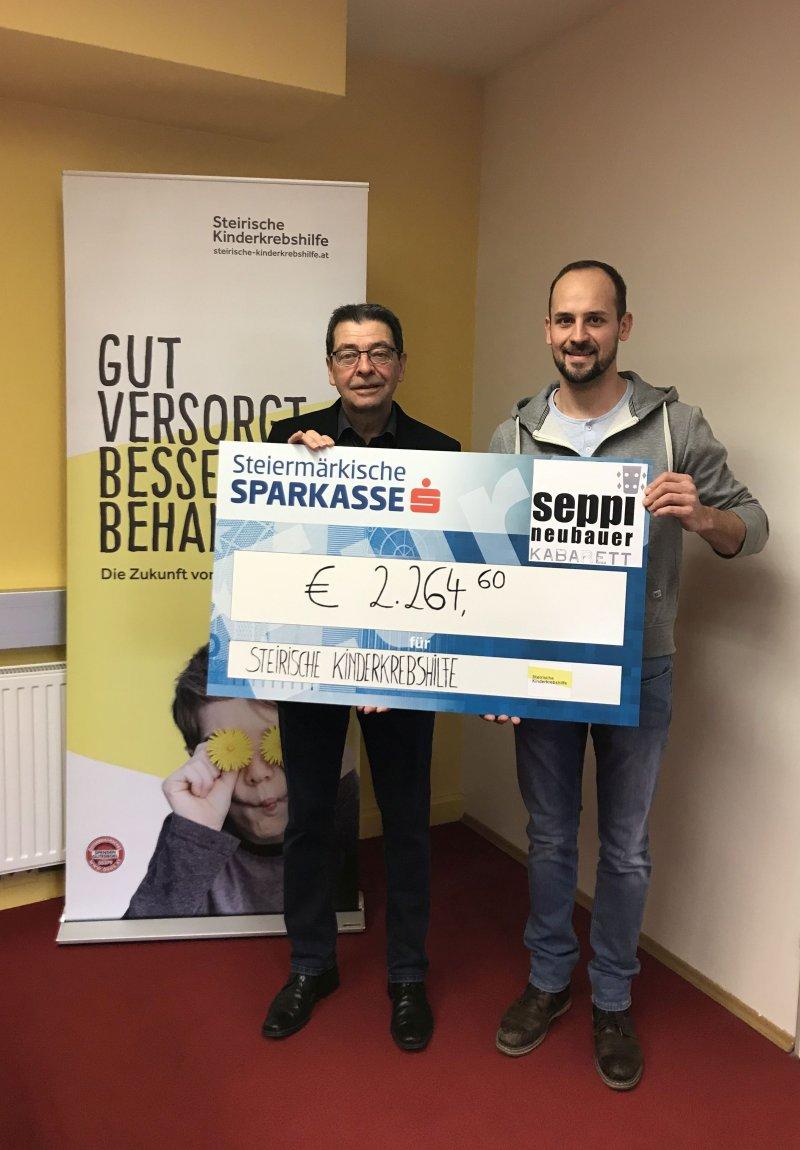 Spendenübergabe im Büro der Steirischen Kinderkrebshilfe