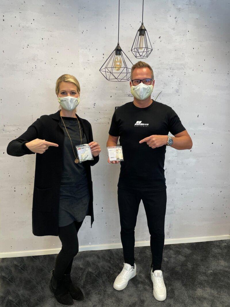 Sonja Seserko (Vorstandsmitglied StKKH) mit Hannes Steiner (CEO sanSirro GmbH) Foto: sanSirro